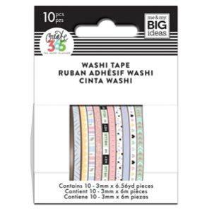 pastel mini washi tape